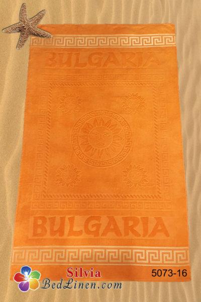Плажна кърпа България - оранжева